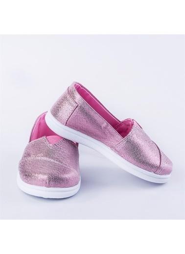 First Step Pullu Toms Keten Ayakkabı Pembe Pembe